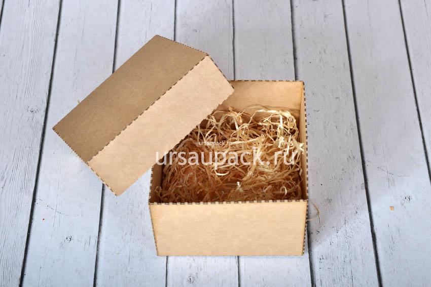 Крафт-коробка, размер 9,5*9,5*6,5 см