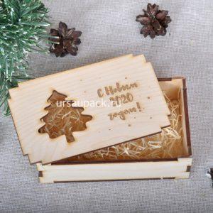 новогодняя коробка елка