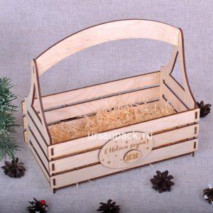 новогодний ящик для подарков