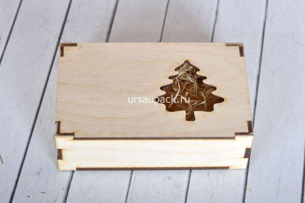 новогодняя коробка елка 2020