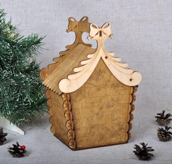 деревянная упаковка на новый год