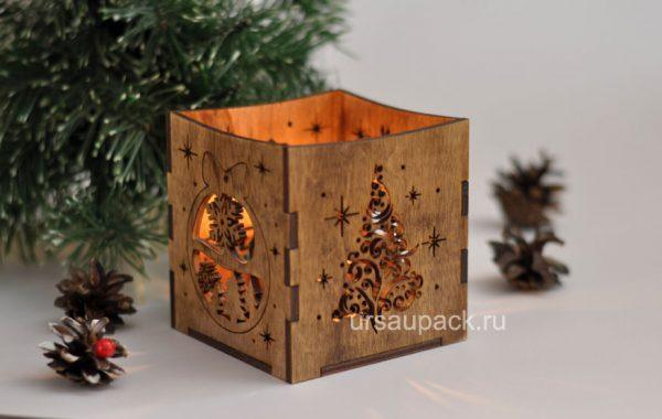 деревянный подсвечник
