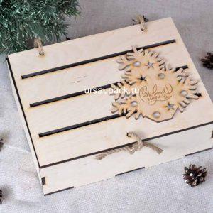 деревянный ящик на Новый год