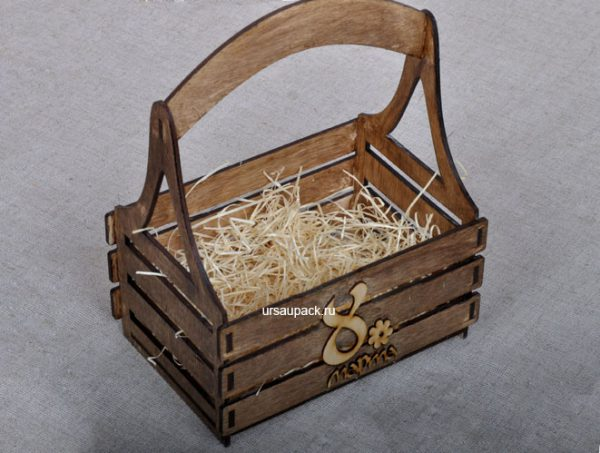 подарочный ящик на 8 марта