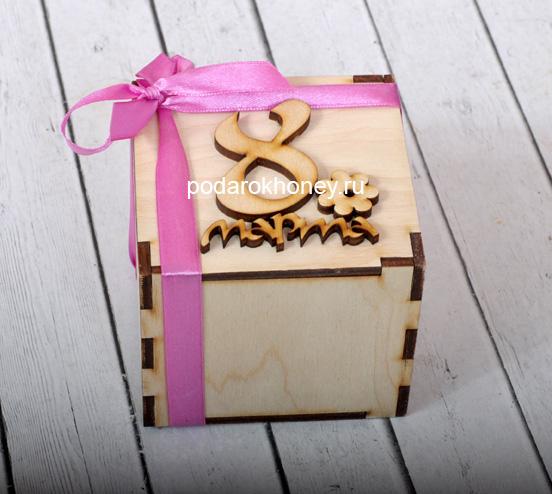мини коробочка на 8 марта