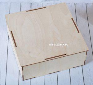 деревянная коробка с выступами