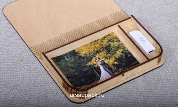 деревянная коробочка для фотографий